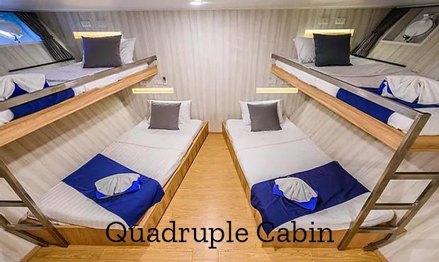 Deep Andaman Queen Liveaboard Quad Cabin