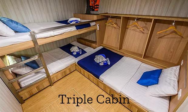Deep Andaman Queen Liveaboard Triple Cabin