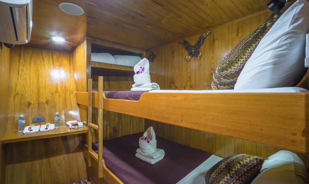 Sawasdee Fasai Thailand Liveaboard Budget Cabin 1